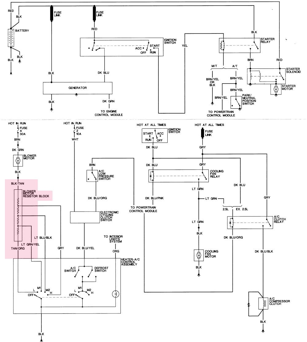 wiring diagram for 1994 dodge dakota ac only readingrat net 96 Dodge Dakota Radio Wiring Diagram  2001 Dodge Dakota Diagram 2004 Dodge Dakota Wiring Diagram Starter 2004 Chevrolet Silverado 2500Hd Wiring Diagram